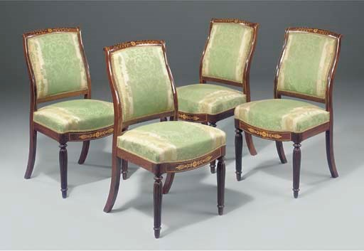 A SET OF FOUR CHARLES X ROSEWO