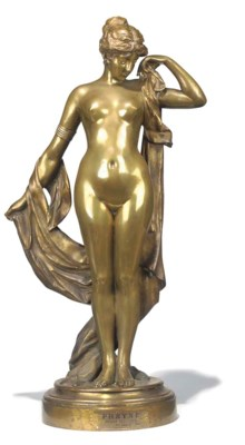 A French bronze figure of Phry