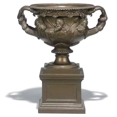 A Berlin bronze patinated cast