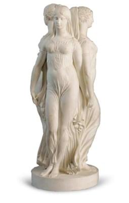 A SEVRES WHITE BISCUIT PORCELA