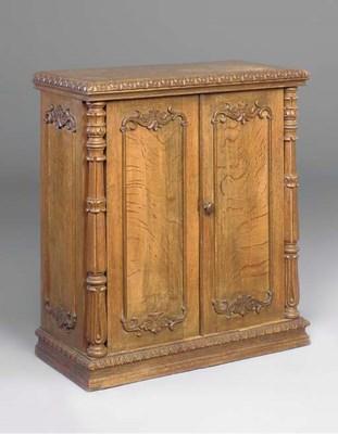An early Victorian oak plate c