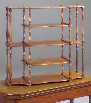 A set of Victorian mahogany ha