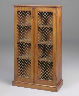 A SMALL MAHOGANY BOOKCASE