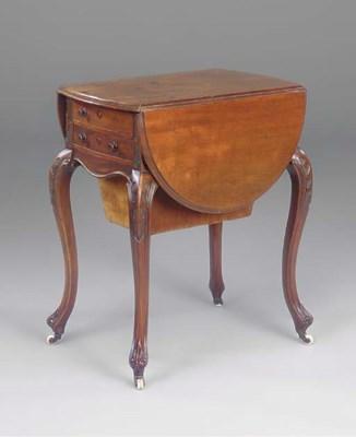A late Victorian mahogany work