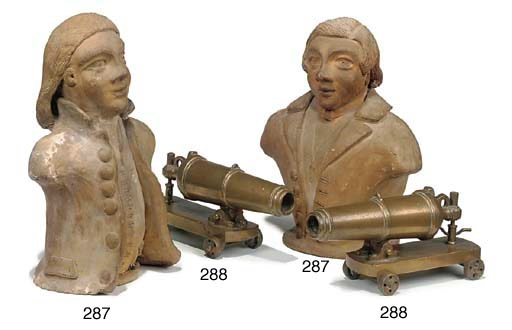 A pair of Continental brass mi