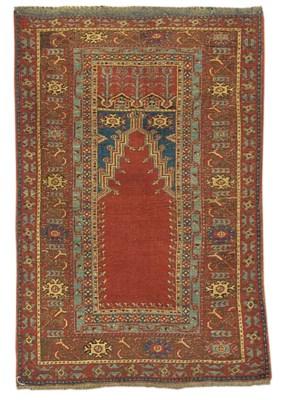 An antique Ladik prayer rug