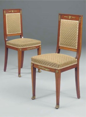 A PAIR OF FRENCH GILT METAL  M