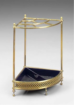 A brass corner stick stand