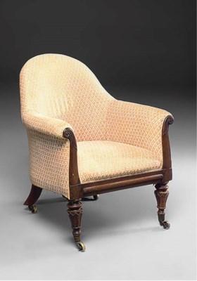 An early Victorian mahogany ar
