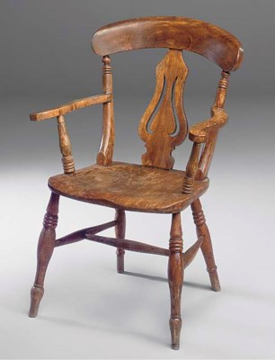 A beech and elm armchair