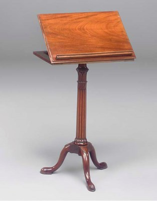 A GEROGE III MAHOGANY READING