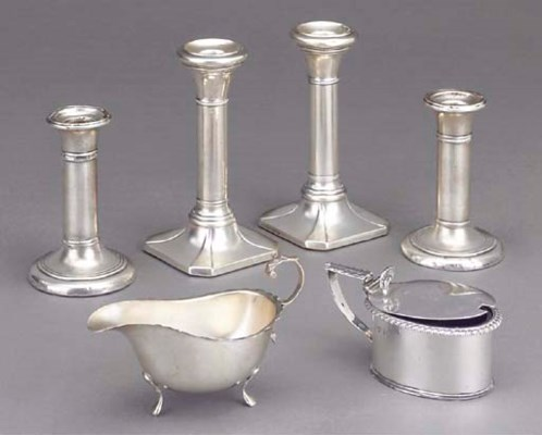 A GROUP OF VICTORIAN SILVER IT