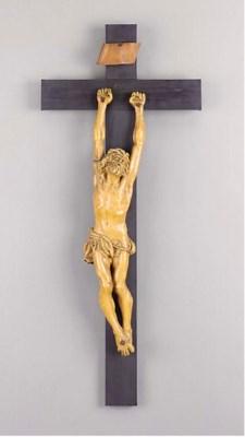 A Continental wax crucifix fig