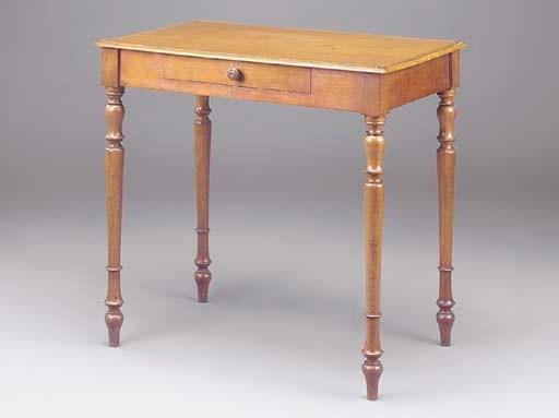 A FRENCH MAHOGANY SIDE TABLE