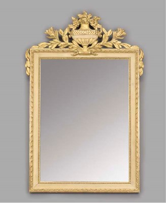A PAINTED AND GILTWOOD MIRROR