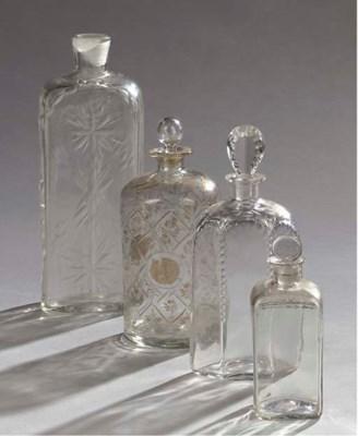 FOUR CONTINENTAL CUT-GLASS DEC