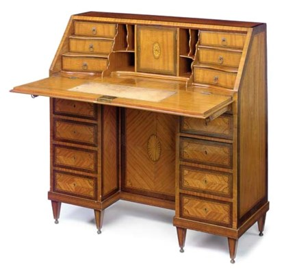 A DUTCH SATINWOOD AND INLAID K