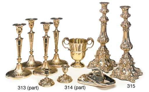 A QUANTITY OF PLATED ITEMS