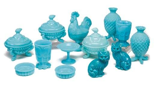 VARIOUS ITEMS OF BLUE SEMI-OPA