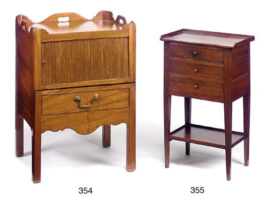 A FRENCH PURPLEWOOD BEDSIDE CO