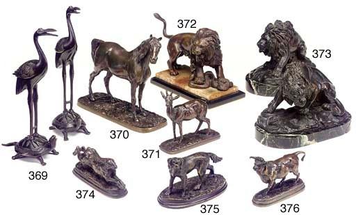 A Pair of Oriental bronze mode