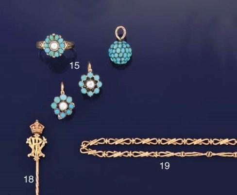A gold, diamond and enamel Roy