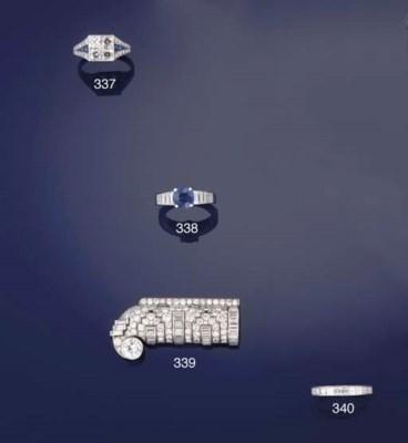 A square-cut diamond eternity