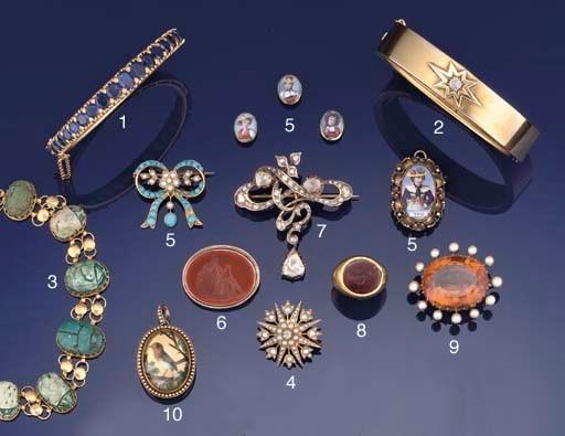 An antique diamond brooch