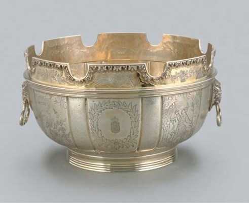 A GEORGE V SILVER-GILT MONTEIT