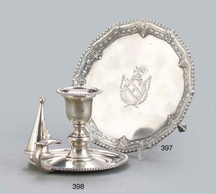 A WILLIAM IV SILVER CHAMBER CA