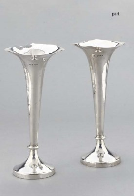 A LARGE PAIR OF EDWARDIAN SILV
