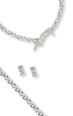A SUITE OF 18K WHITE GOLD AND