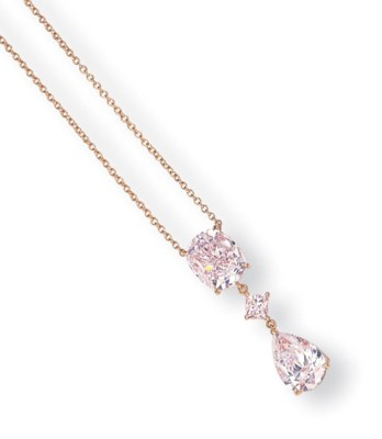 A COLOURED DIAMOND PENDANT NEC