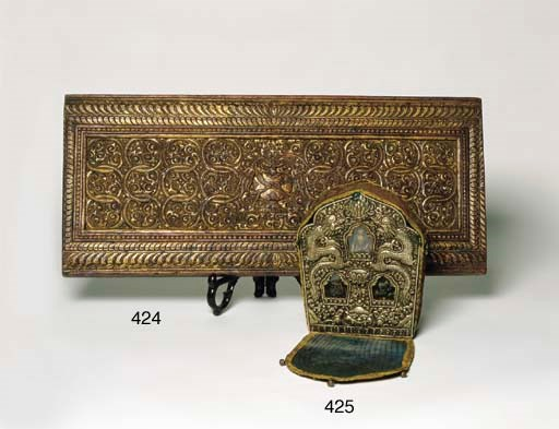 A TIBETAN CARVED AND GILTWOOD