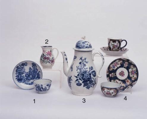 AN ENGLISH BLUE AND WHITE TEA