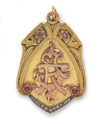 A RUSSIAN ART NOUVEAU RUBY AND