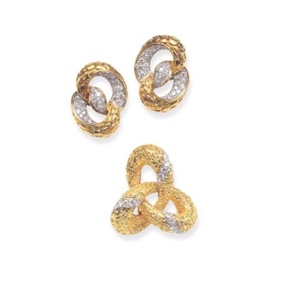 A GROUP OF GOLD AND DIAMOND JE