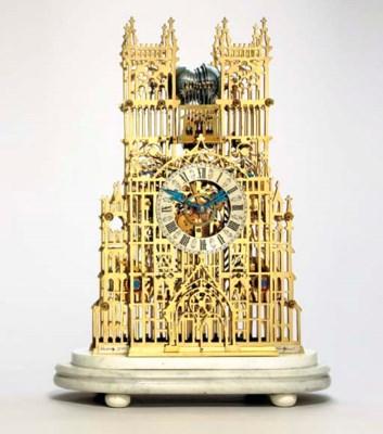A Victorian brass quarter-chim