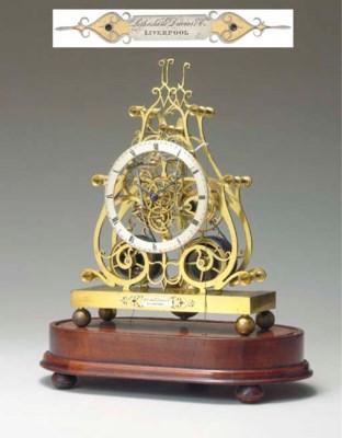 A Victorian brass striking ske