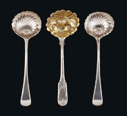 A GROUP OF GEORGE III SILVER F