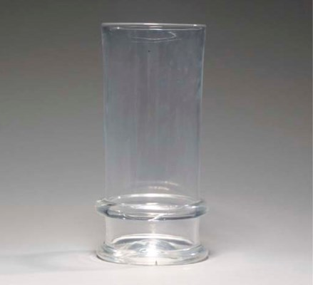 A PAIR OF AMERICAN GLASS VASES