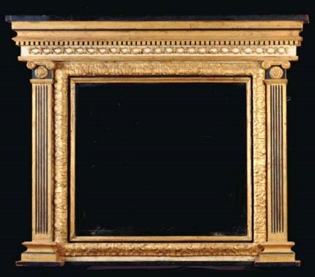 A REGENCY STYLE  GILTWOOD OVER