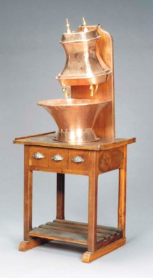 A PROVINCIAL OAK, BRASS AND CO