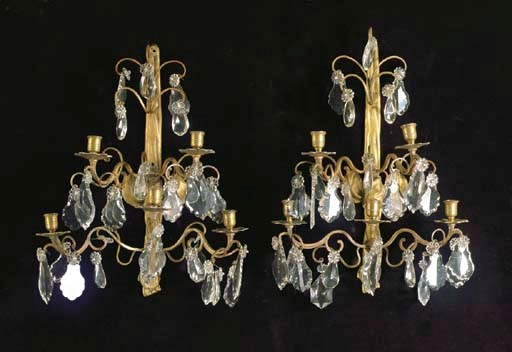 A PAIR OF LOUIS XV STYLE FIVE-