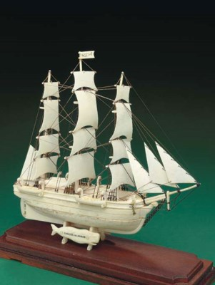 A bone and ivory model of the