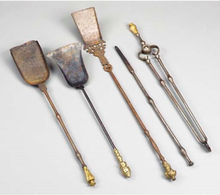 A GROUP OF LOUIS XVI STEEL AND