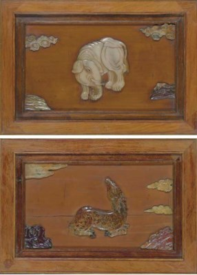 A SET OF FOUR UNUSUAL FRAMED S