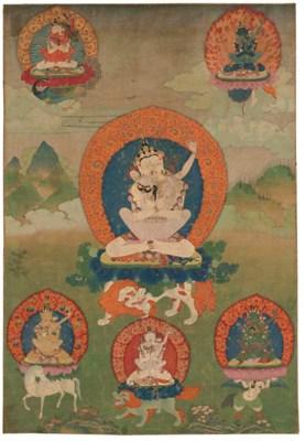 A Thangka of Vajrasattva