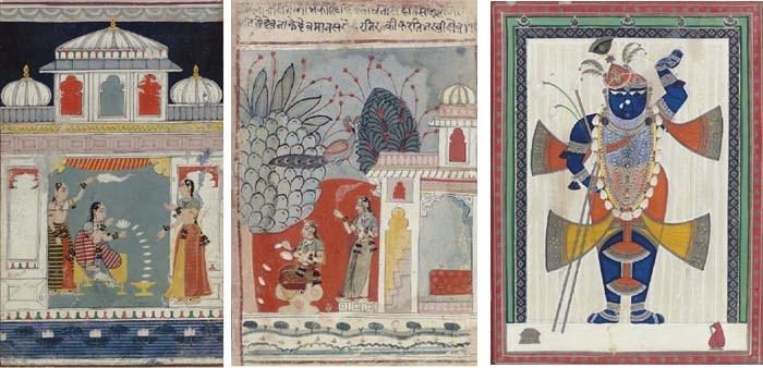 Two Ragmala miniatures and a p