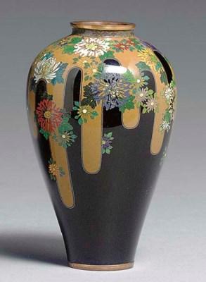 A Small Cloisonné Enamel Vase